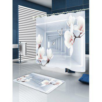 Wintersweet Butterfly Corridor Printed Waterproof Fabric Bath Shower Curtain - COLORMIX W71 INCH * L71 INCH
