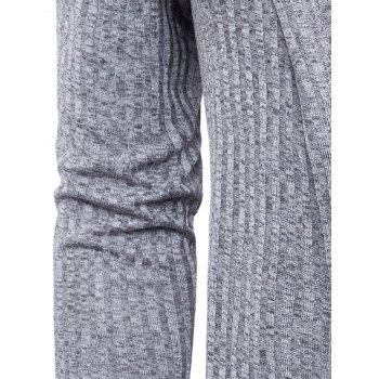 Pockets Longline Knitting Cardigan - GRAY L