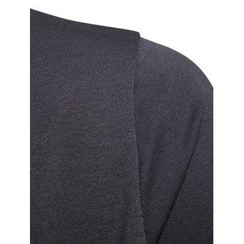 Cardigan T-shirt Conception Pure Drapé - Gris XL