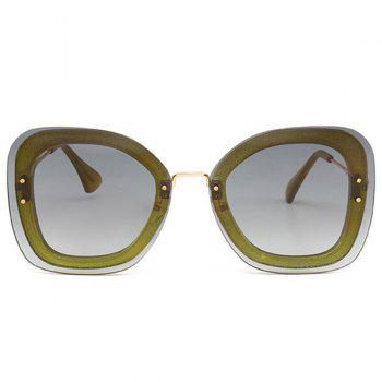 Anti-fatigue Metal Frame Butterfly Sunglasses - GREEN