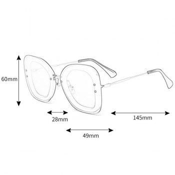 Anti-fatigue Metal Frame Butterfly Sunglasses - TEA COLORED