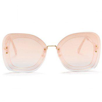 Anti-fatigue Metal Frame Butterfly Sunglasses - PINK