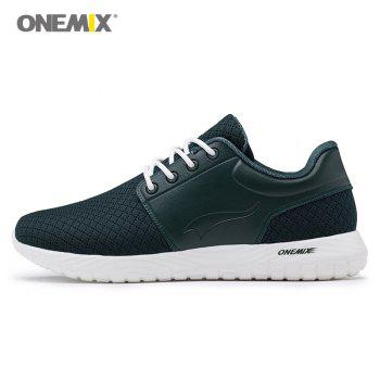 ONEMIX Lace Up Breathable Casual Sneakers - DARK GREEN 43