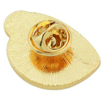 Cute Enamel Tea Cup Tin Brooch - ORANGE
