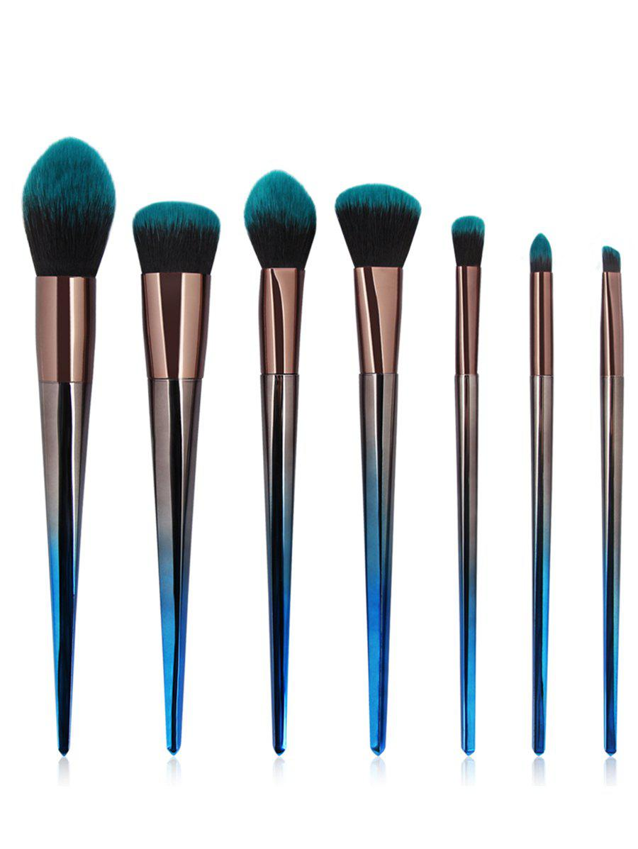 Professional 7Pcs Gradual Color Handle Fiber Hair Makeup Brush Set ombre hook handle makeup brush 7pcs