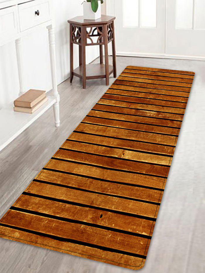 Wooden Floor Pattern Indoor Outdoor Area Rug - BROWN W16 INCH * L47 INCH
