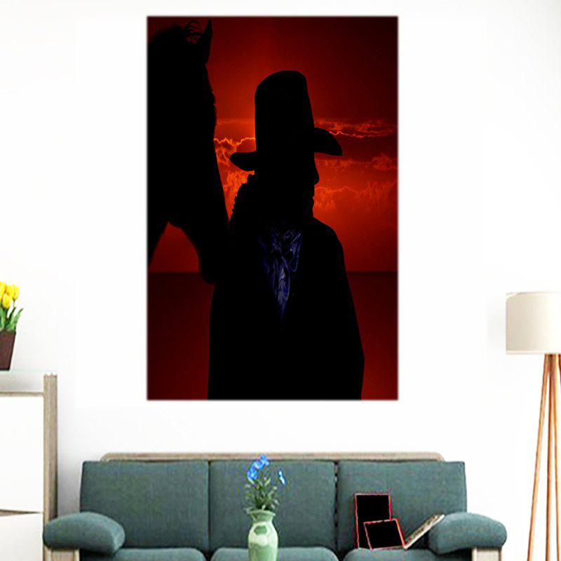 west cowboy sunset printed canvas wall art painting colorful 1pc1624 inch