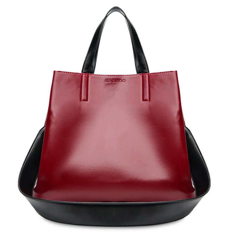 Minimalist Faux Leather Tote Bag with Strap faux leather minimalist practical 3 pieces tote bag set page 1