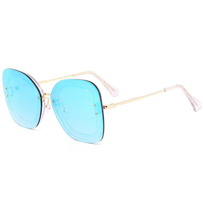 Anti-fatigue Metal Frame Butterfly Sunglasses - ICE BLUE