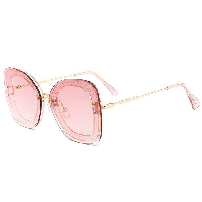Anti-fatigue Metal Frame Butterfly Sunglasses - CLEAR LIGHT PINK