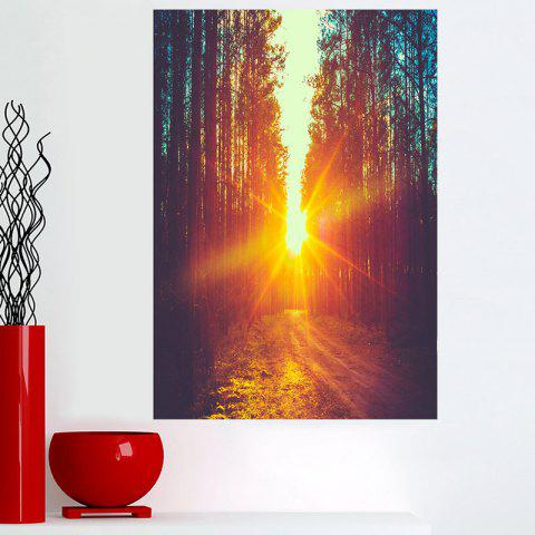 Nature Sunset Forest Wall Art Canvas Painting - COLORFUL 1PC:16*24 INCH( NO FRAME )