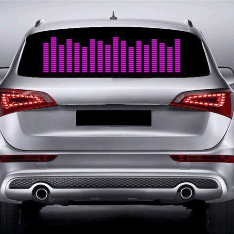 Music Rhythm Car Sticker Decorative LED Light - PURPLE 90 X 25CM