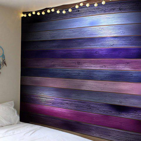 Coloured Plank Printed Tapestry Wall Art - COLORFUL W79 INCH * L71 INCH