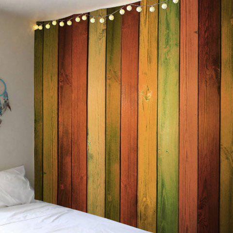 Rainbow Wood Grain Printed Decorative Tapestry - COLORFUL W79 INCH * L71 INCH
