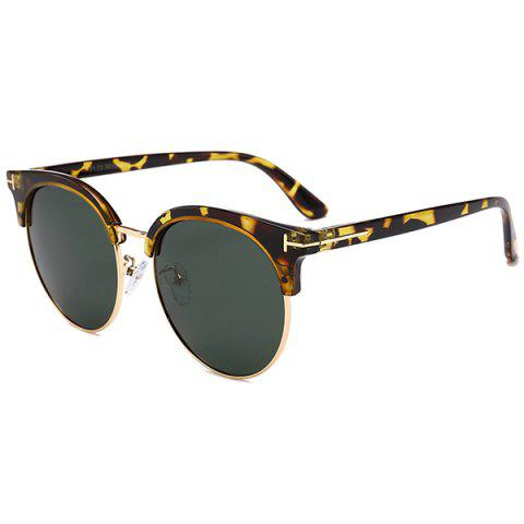 Anti-fatigue Letter T Decorative Sun Shades Sunglasses - DARK GREEN CAMOUFLAGE