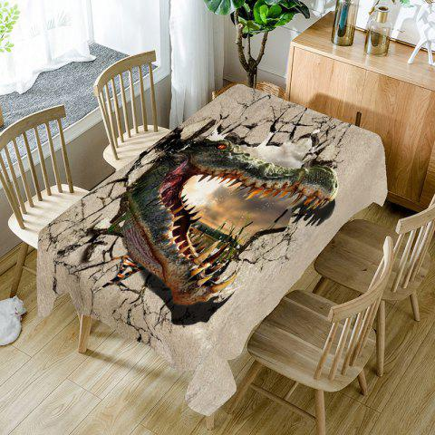 Openmouthed Dinosaur Print Table Cloth - COLORMIX W54 INCH * L72 INCH