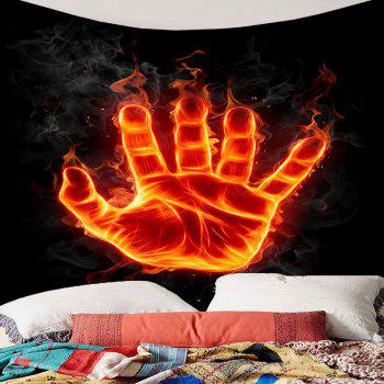 Wall Art Decor Fire Hand with Power Printed Hanging Tapestry - COLORFUL W79 INCH * L71 INCH