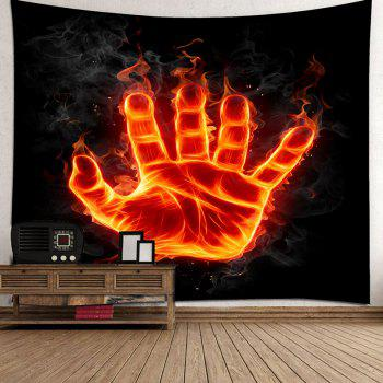 Wall Art Decor Fire Hand with Power Printed Hanging Tapestry - COLORFUL W91 INCH * L71 INCH