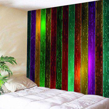 Rainbow Wood Printed Celebration Background Wall Art Hanging Tapestry - COLORFUL W71 INCH * L71 INCH
