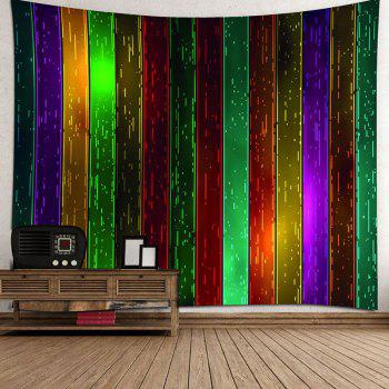 Rainbow Wood Printed Celebration Background Wall Art Hanging Tapestry - COLORFUL W91 INCH * L71 INCH