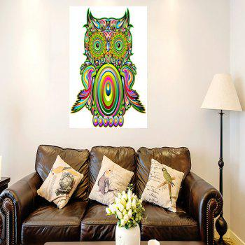 Owl Pattern Sticky Wall Art Canvas Painting - COLORFUL 1PC:16*24 INCH( NO FRAME )