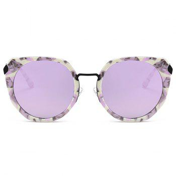 Anti-fatigue Metal Full Frame Nose Pad Sunglasses - PURPLE