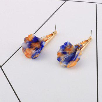 Colorful Resin Cone Drop Earrings - COLORMIX