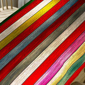 Rainbow Wood Grain Print Decorative Table Cloth - COLORFUL W54 INCH * L54 INCH