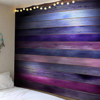 Coloured Plank Printed Tapestry Wall Art
