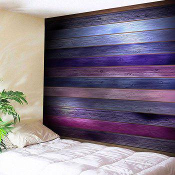 Coloured Plank Printed Tapestry Wall Art - COLORFUL W91 INCH * L71 INCH