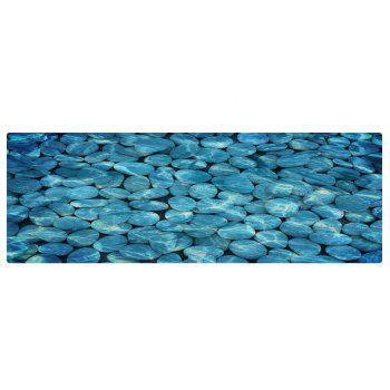 Pebbles In Water Pattern Indoor Outdoor Area Rug - LAKE BLUE W24 INCH * L71 INCH
