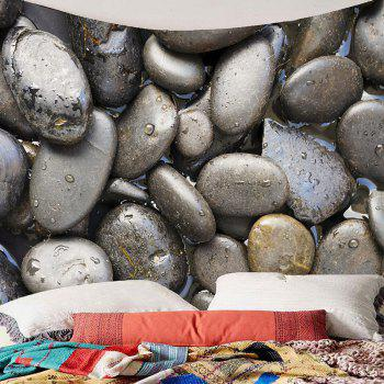 Decorative Cobblestones Printed Wall Tapestry - GRAY W79 INCH * L71 INCH