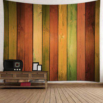 Rainbow Wood Grain Printed Decorative Tapestry - COLORFUL W71 INCH * L71 INCH