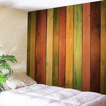 Rainbow Wood Grain Printed Decorative Tapestry - COLORFUL W91 INCH * L71 INCH