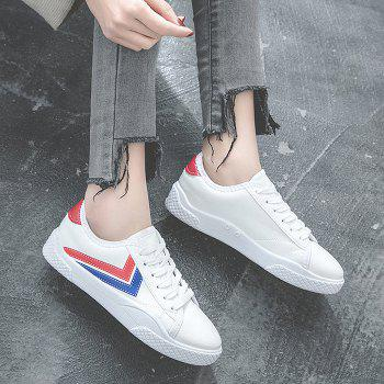 Contrast Trim Low Top Skate Shoes - WHITE 40