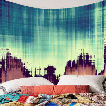 Fuzzy Shadow Printed Tapestry Wall Art - COLORFUL W91 INCH * L71 INCH