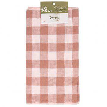 Cotton Plaid Strong Water Absorption Towel - PINK 34*75CM
