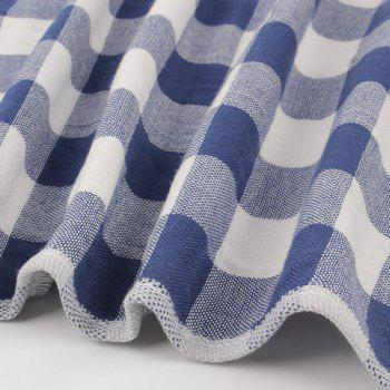 Cotton Plaid Strong Water Absorption Towel - BLUE 34*75CM