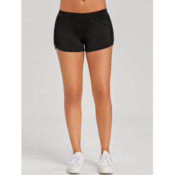 Criss Cross Mini Gym Shorts - BLACK XL