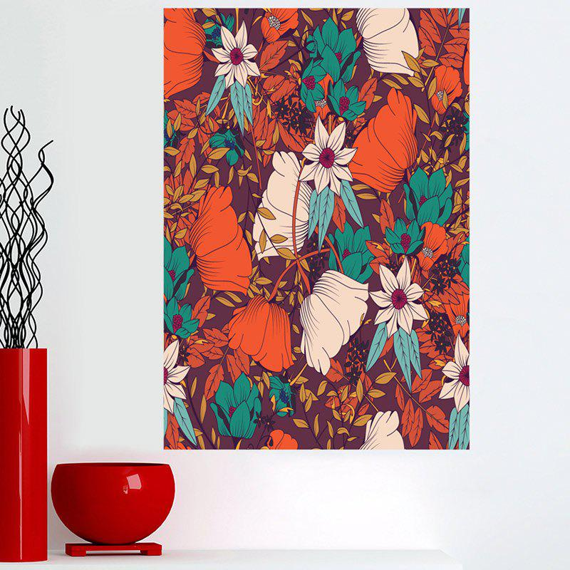 Bohemian Flowers Sticky Canvas Painting - COLORFUL 1PC:16*24 INCH( NO FRAME )