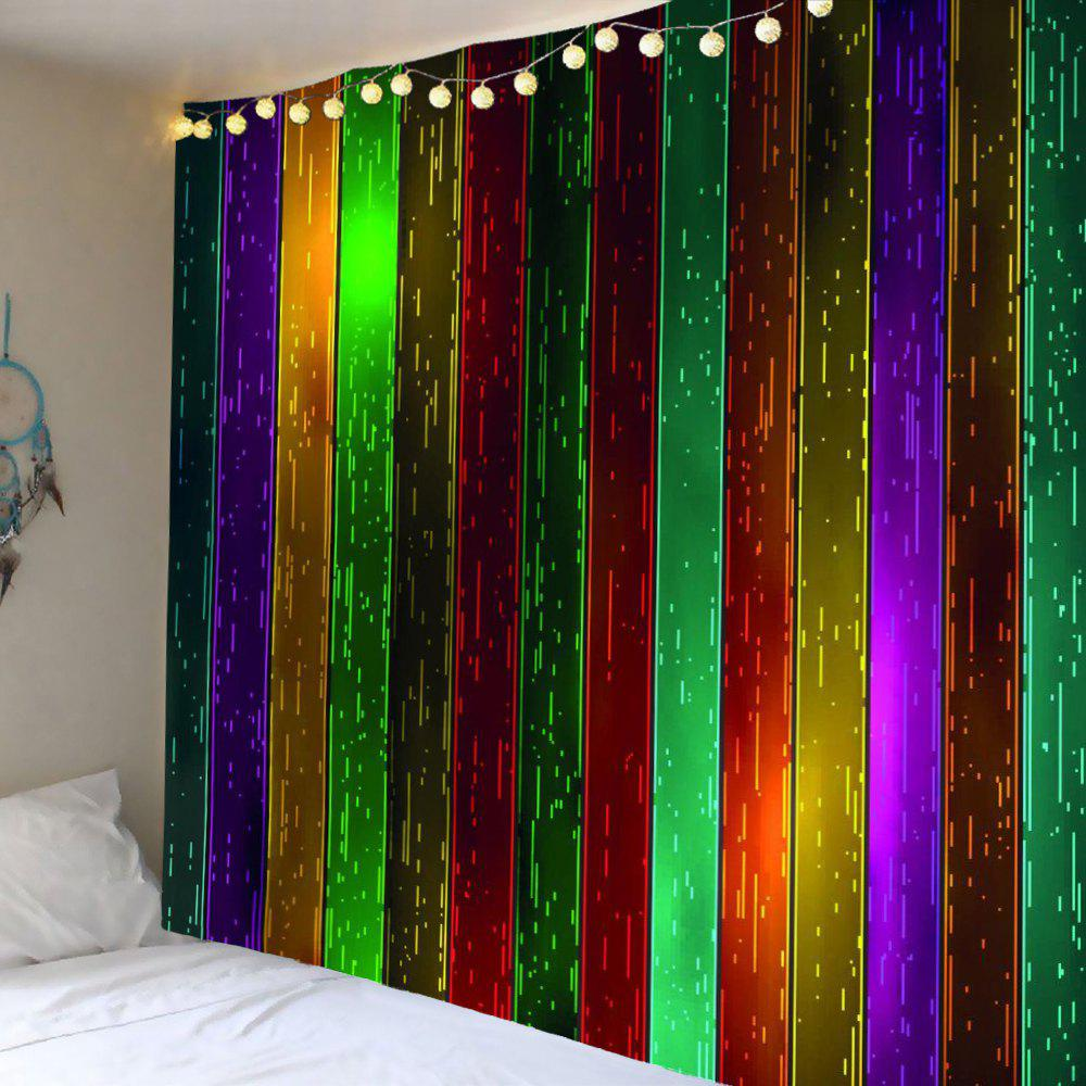 Rainbow Wood Printed Celebration Background Wall Art Hanging Tapestry - COLORFUL W79 INCH * L71 INCH