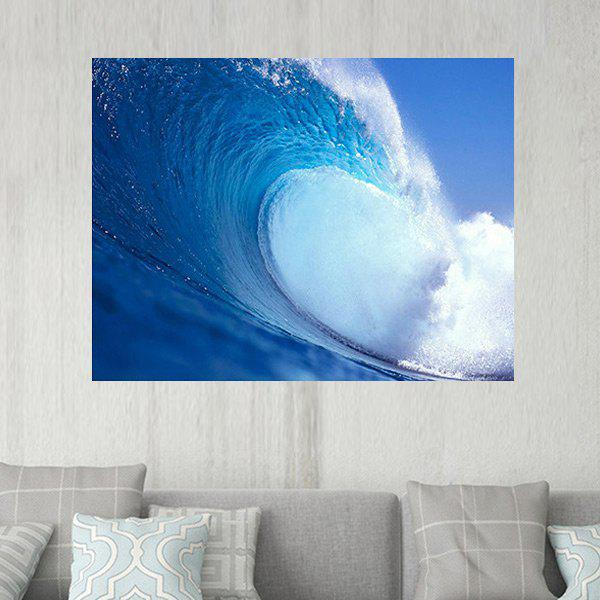 Sea Wave Pattern Wall Art Sticker sea wave stairs sticker 6pcs