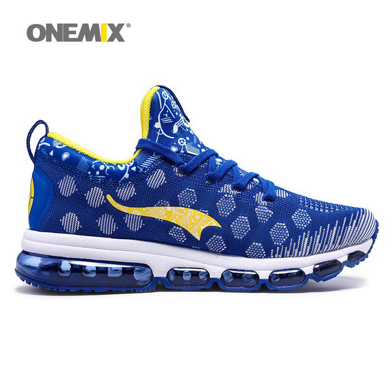 ONEMIX Patchwork Air Cushion Athletic Shoes - ROYAL 46