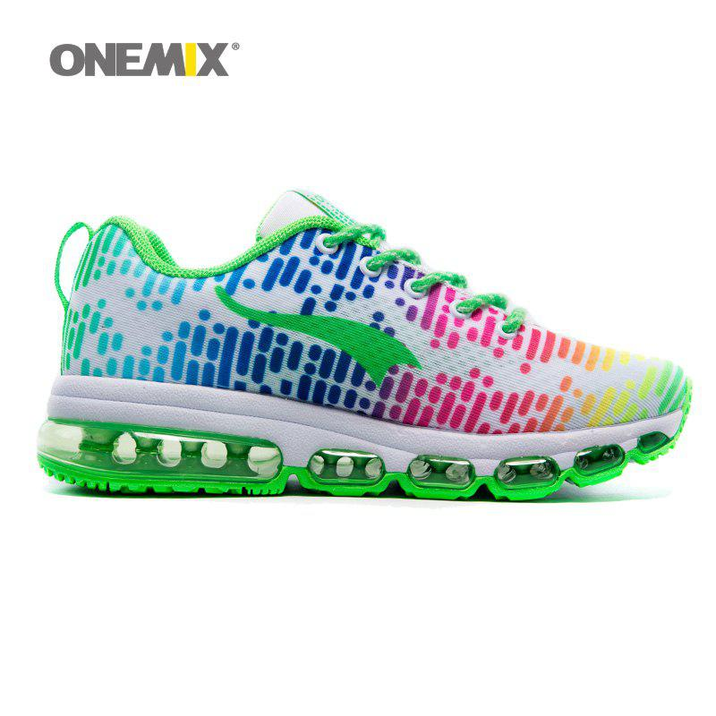 ONEMIX Outdoor Air Cushion Lace Up Sport Shoes - COLOR STRIPE 39