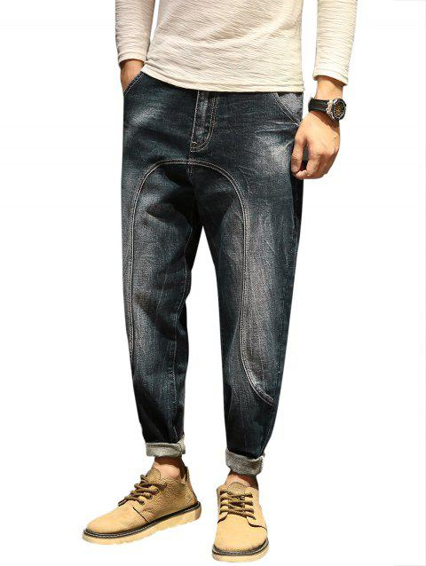 Faded Casual Slim Fit Jeans - BLUE 34
