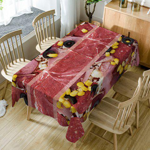 Meat Scattered Corn Kernels Printed Table Cloth - RED W54 INCH * L72 INCH
