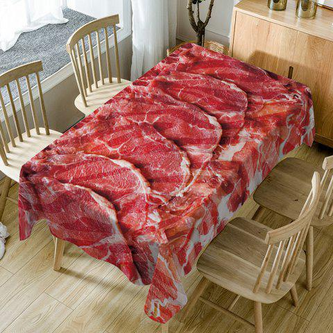 Streaky Meat Printed Indoor Outdoor Table Cloth - RED W60 INCH * L84 INCH