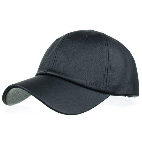 Simple Line Embroidery Magic Sticker Sunscreen Hat - BLACK