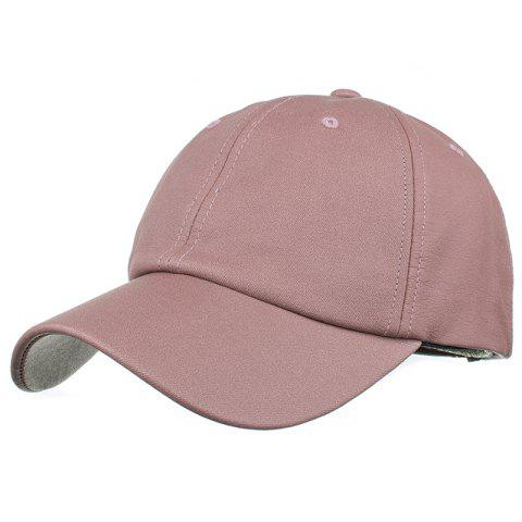 Simple Line Embroidery Magic Sticker Sunscreen Hat - PINK