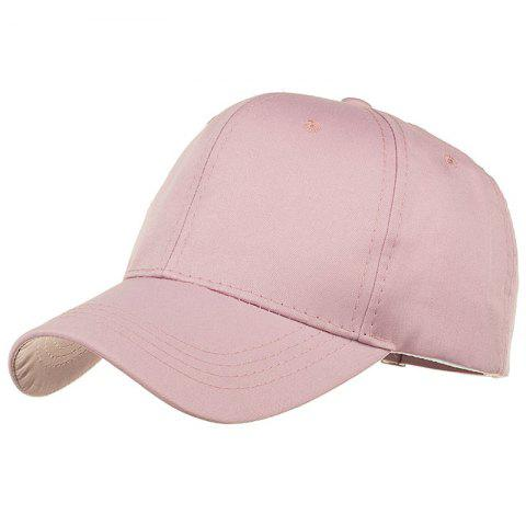 Soft Line Embroidery Adjustable Sunscreen Hat - PINK
